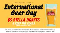 International Beer Day: $5 Stella Drafts