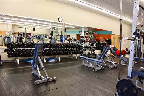 We have free weights as well as weight machines.