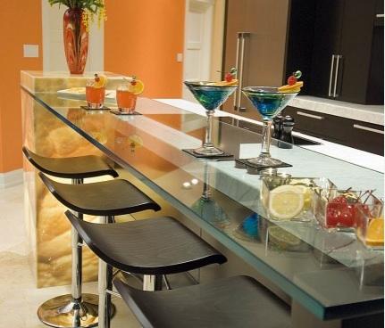 Glass Bar Counter Top