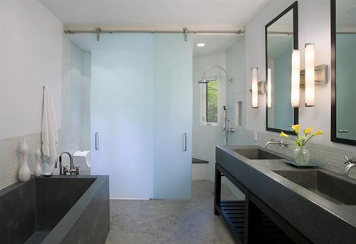 Sliding Barn Door Shower