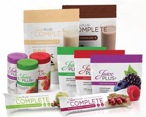 Juice Plus+ is a company with a mission statement To Inspire Healthy Living Around the World....We have fruits, vegetables, berries and grains in capsules or chewable's, we have 2 flavors of a drink mix, 2 nutritious bars and if you want to grow your own fruits and vegetables, we even have a system to do that.