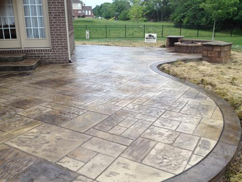 Stamped Concrete Patio in Mason Ohio