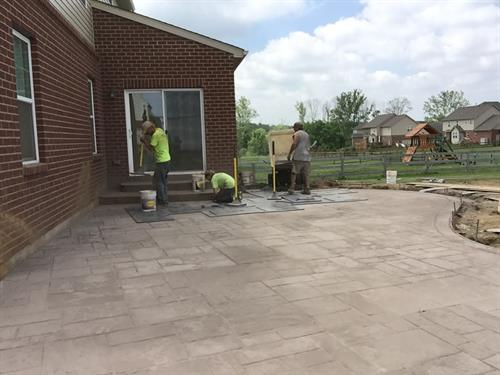 Stamped Concrete Patio Loveland Ohio