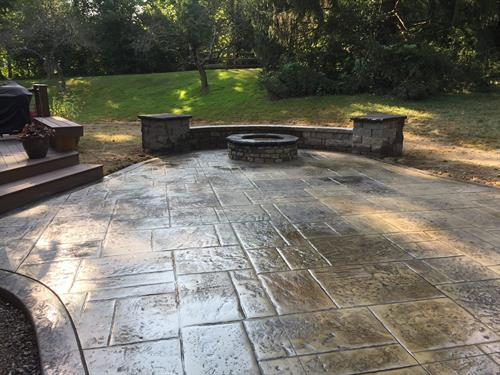 Stamped Concrete Patio Cincinnati Ohio