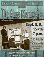 The Glass Menagerie appearing Sept. 8, 9, 15, & 16, 2017