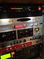 Various analog outboard gear equipment.  Lynx, Antelope clock, BBE, Fractal Ax FX