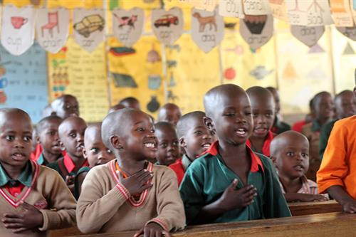 Giving back: The Children we love here at Brown's.  Doug Brown, the General Manager of Brown's travels every year to the school to work, enroll new students, spend time building infrastructure, lending his support for the arts by offering an opportunity for the students to explore creativity and art.