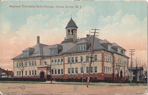 Historic Old Neptune High School (Illustration/Postcard) built in 1897.
