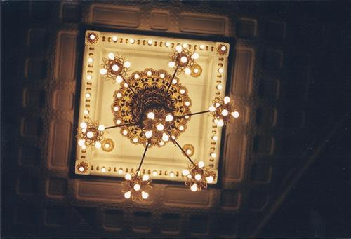 Palaia Theater, chandelier restored.