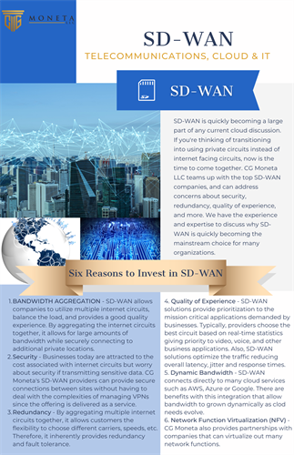 SD-WAN Overview - Telecommunication, Cloud & IT