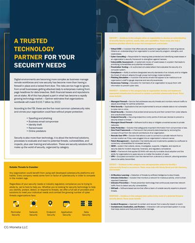 A Trusted Technology Partner for your Security Needs