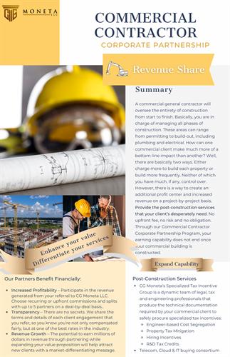 Commercial Contractor Corporate Partnership Program