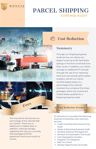 Parcel Freight Shipping - Cost Reduction