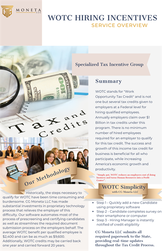 Work Opportunity Tax Credit (WOTC) - Specialized Tax Incentives