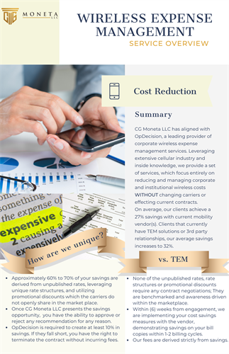 Corporate Wireless Plan - Cost Reduction