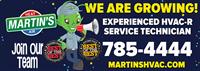 Experienced HVAC Service Tech