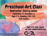 CSA: Preschool Art Class(ages 3-5)