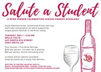 Salute a Student - A Wine Dinner Celebrating Single Parent Scholars