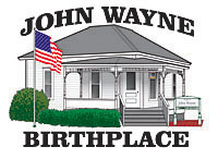 John Wayne Birthplace logo design
