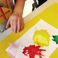 Preschool Straw Painting