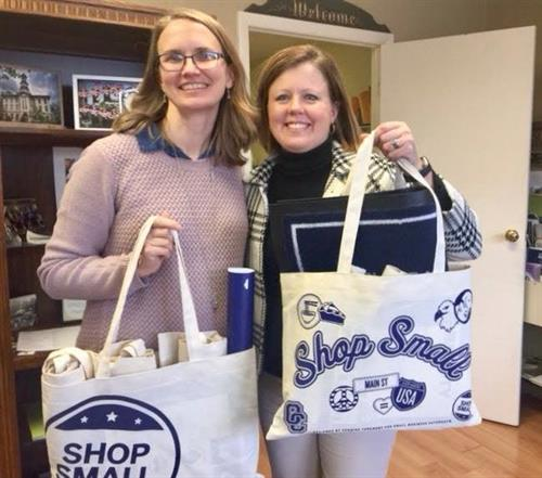 Wyoming County Chamber of Commerce & the SBDC reminding people to #ShopSmall