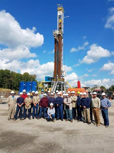 1st years drill rig tour