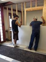 Construction on children's Bible classrooms at our meeting location
