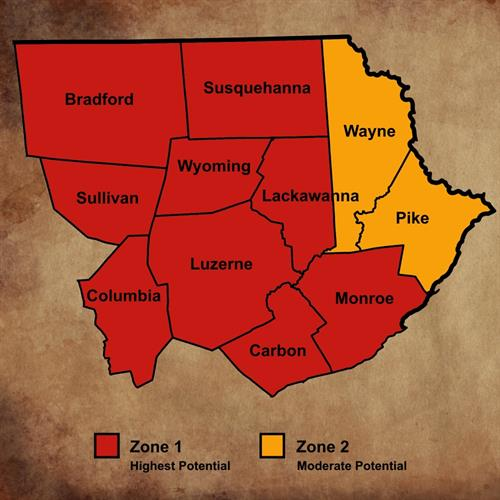 How common is Radon in Northeastern PA?