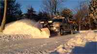 Shaver & Sons, Dominic's Sister Company offers snow removal services