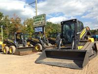 Wide selection of Rubber tire and Track Skidsteers available