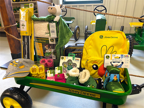 John Deere branded toys and accessories