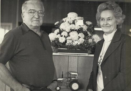 Stark Sr. and Jennie Bartron at Bartron Supply's 25th Anniversary: 1973
