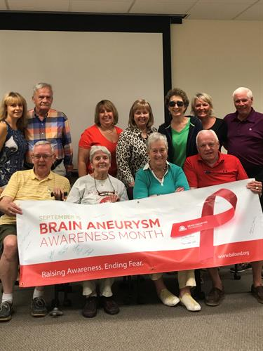 Many support groups offered for free to the public including Brain Aneurysm Support Group