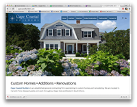 Been remiss, working on great client projects but not SHOWING them! Awesome builder on Cape Cod, needed a new website to showcase his great work, plus he's a great guy! Check it out: http://www.capecoastalbuilders.com