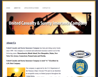 United Casualty and Surety Ins Co - created new website