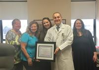 Our nurses and CNA's at Hancock PArk in Quincy recently earned an award in Wound Care Excellence. Congrats to the Hancock Park team!