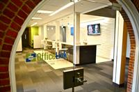 The entrace to OfficeLink Quincy welcomes you and your company.