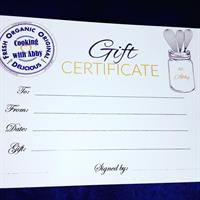 We sell Gift Certificates for Classes and Culinary Adventures