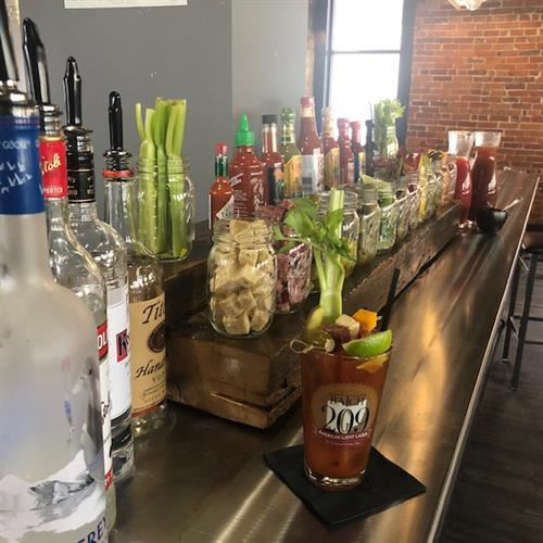 Bloody Mary bar available Saturdays