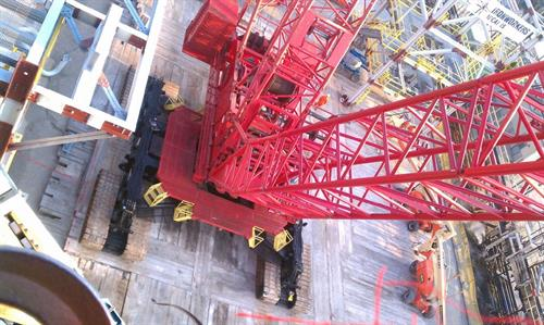 Working with a Manitowoc 21000- just shy of a million pound lifting capacity