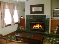 A rarity for vacation rentals, a real wood fireplace