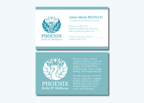 Business Card Design for Phoenix Reiki & Wellness