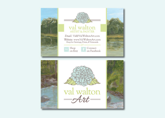 Business Card Design for Val Walton Art