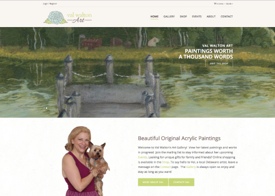 Web Design for Val Walton Art