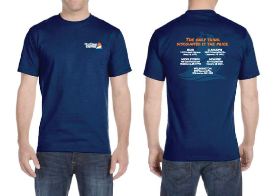 Staff Shirt Design for Dry Clean Express (now in 7 locations!)