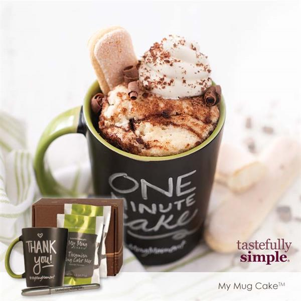 My Mug Cakes are hot right now and this Tiramisu Mix is perfect to warm the sole on a cold night!