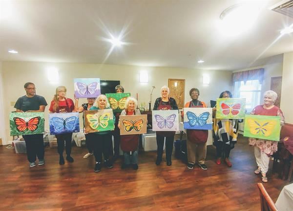 Aberdeen Senior Housing Paint Party (free for residence)