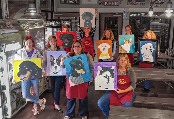 Paint Your Pet Night at OC Brewing Co. in Abingdon Md.