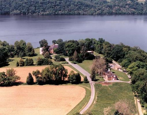 Aerial view of Donaldson Brown Riverfront Event Center