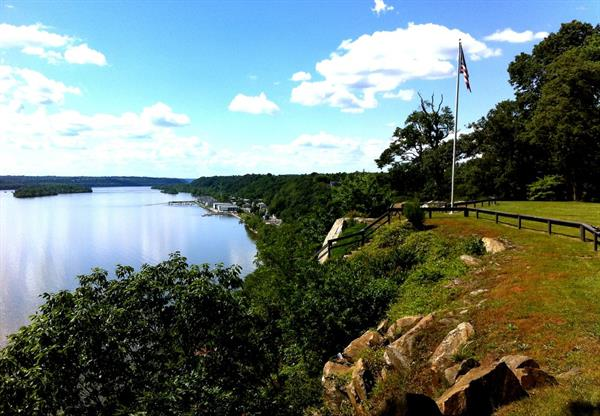 Looking to the town of Port Deposit from Donaldson Brown Riverfront Event Center